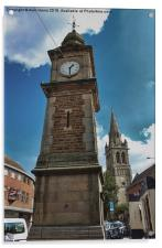 Rugby Clock tower, Acrylic Print