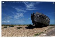 Old Fishing Boat on Dungeness Beach, Acrylic Print
