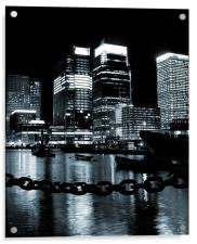 Canary Wharf & Chains, Acrylic Print