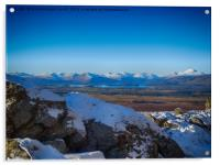 Looking to Loch Lomond from the Whangie, Acrylic Print