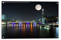 Night on the Thames , Acrylic Print