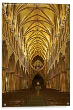 Inside Wells Cathedral, Acrylic Print