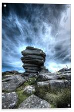 The Cheesering on Bodmin Moor, Acrylic Print