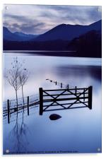 Evening at Derwent Water, Acrylic Print