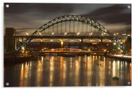 Dusk over the Tyne, Acrylic Print