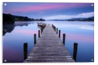 North Jetty at Coniston Water, Acrylic Print