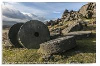 Stanage Edge The Forgotten Stones, Acrylic Print