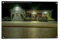 The Claymore Restaurant at night, Acrylic Print