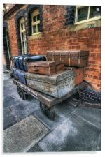 Luggage at the Station, Acrylic Print