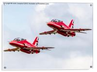 The Red Arrows - flying the flag., Acrylic Print