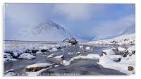 Buachaille Etive Mor and bridge from the river , Acrylic Print