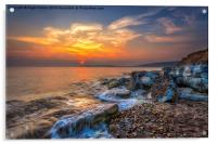 Sunset At Hanover Point, Acrylic Print