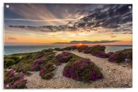 Headon Hill Sunset, Acrylic Print