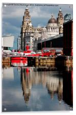 Reflections Of Liverpool, Acrylic Print
