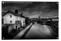 Brecon Canal Cottages, Acrylic Print