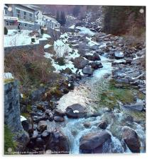 Healing waters in France, Acrylic Print