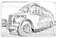 Old Fashioned Bus, Acrylic Print