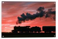 Steam Sunset Silhouette, Acrylic Print