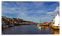 Whitby From The Swing Bridge, Acrylic Print