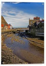To The Harbour Mouth Staithes, Acrylic Print
