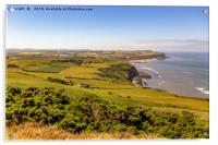 The view from Boulby cliffs, Acrylic Print