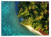 Tropical Island from Above. Aerial Journey over M, Acrylic Print