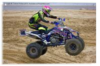 Quad bike race, Acrylic Print