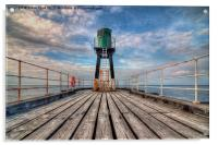 Whitby Harbour West Pier, Acrylic Print