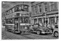 Middleton Tram - Black and White, Acrylic Print