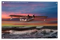 Consolidated PBY-5A at Sunset (US Navy Version), Acrylic Print