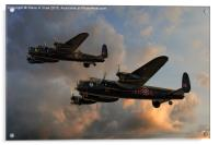 BBMF and Canadian Warplane Heritage Museum Lancas, Acrylic Print