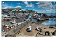 Mevagissey Outer and Inner Harbour, Acrylic Print