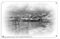 Brixham in Black and White, Acrylic Print