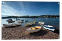 Early evening on the River Teign at Shaldon, Acrylic Print