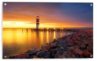 Lighthouse Podersdorf, Acrylic Print
