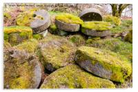 Abandoned Millstones - Peak District, Acrylic Print