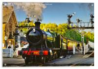 GWR 2857 Heavy Goods Loco at the NYMR, Acrylic Print