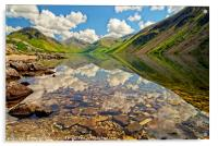 Wastwater Lake District Reflections, Acrylic Print