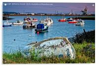Paddy's Hole at South Gare Evening Light, Acrylic Print