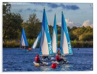 Dinghy Sailing at Dinton Pastures, Acrylic Print