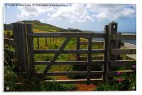 The Wales Coast Path at Penberry, Acrylic Print