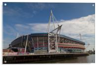 Welsh Rugby Union Stadium, Wales, Acrylic Print