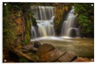 The waterfall at Penllergare, Acrylic Print