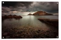 Rough weather over Mumbles lighthouse, Acrylic Print