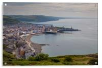 A view of Aberystwyth from Constitution Hill, Acrylic Print