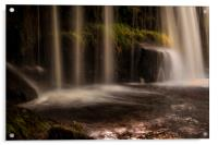 Detail of a waterfall in South Wales, Acrylic Print