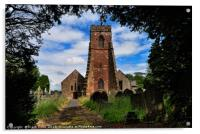 Holy Cross Church, Woodchurch, Wirral, UK, Acrylic Print