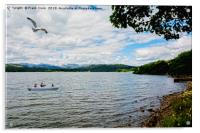 a Quiet Windermere from the lake edge., Acrylic Print