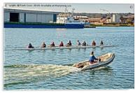 Training exercise on Birkenhead's West Float, Acrylic Print