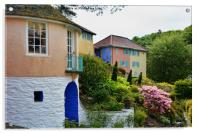 Typical architecture at Portmeirion, Acrylic Print